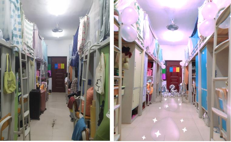 南宁职业技术学院艺术设计学院以行动学习法开展学生宿舍美化比赛
