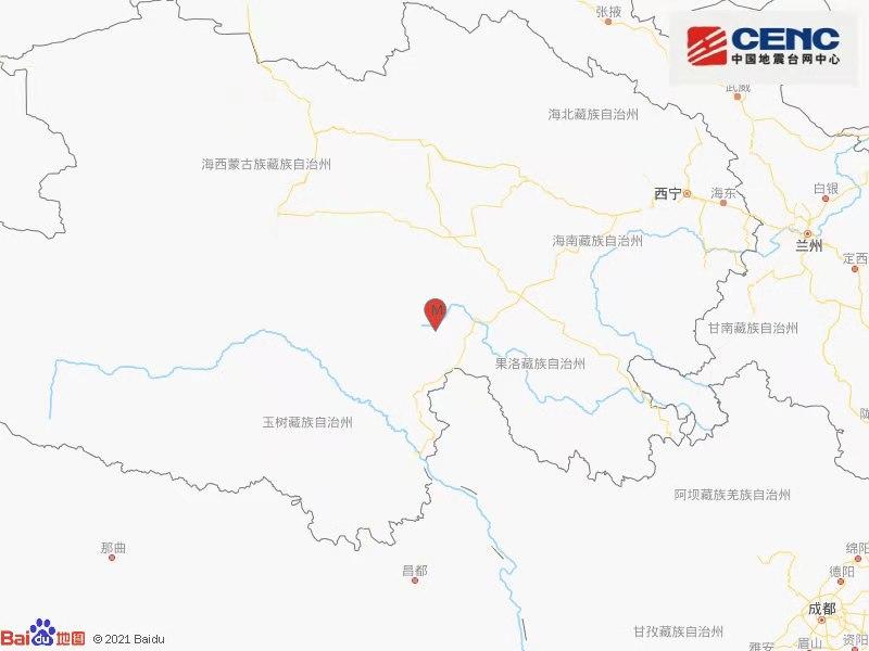 青海果洛州玛多县发生3.2级地震 震源深度10千米