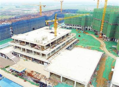 中国民航大学宁河校区二标段主体结构封顶(图)