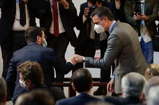 西班牙首相桑切斯与加泰罗尼亚大区主席阿拉贡内斯将进行赦免令发布后的首次会面