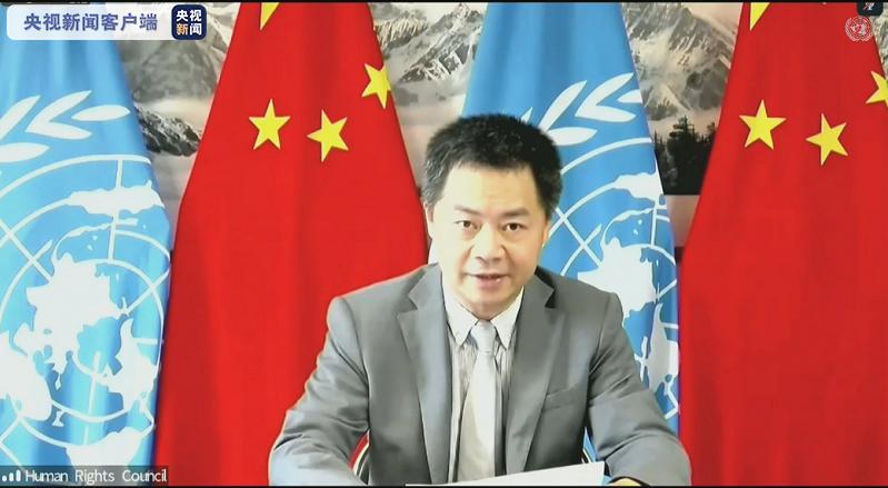 中国代表一组国家在人权理事会敦促加拿大立即停止侵犯人权行为