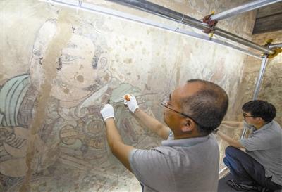山西永乐宫启动壁画修复