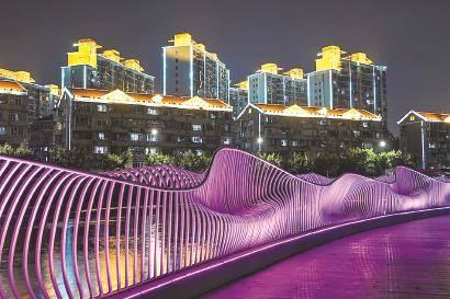 苏州河长宁段景观灯光全面提升