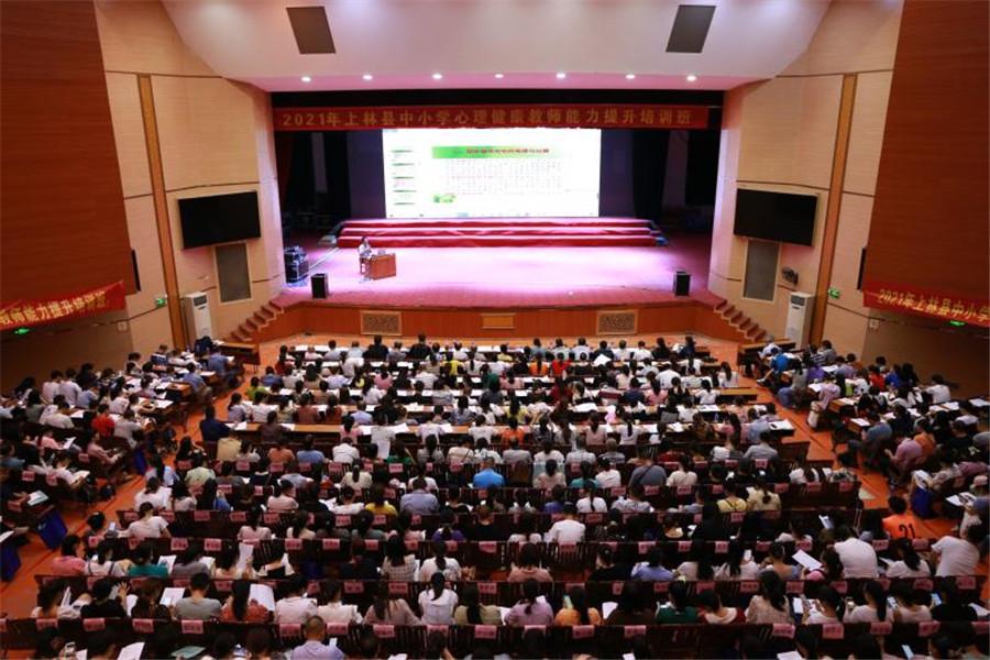 上林县举办中小学心理健康教师能力提升培训班