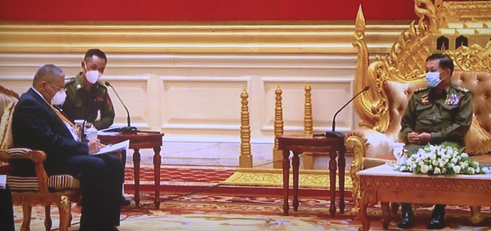 【蜗牛棋牌】缅甸军方领导人会见东盟官员