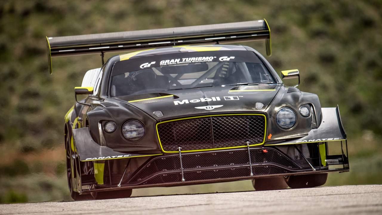 宾利展示欧陆GT3派克峰爬山赛赛车