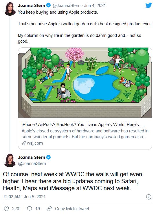 苹果公司在 2021 年 WWDC 上的四个重点内容被泄露