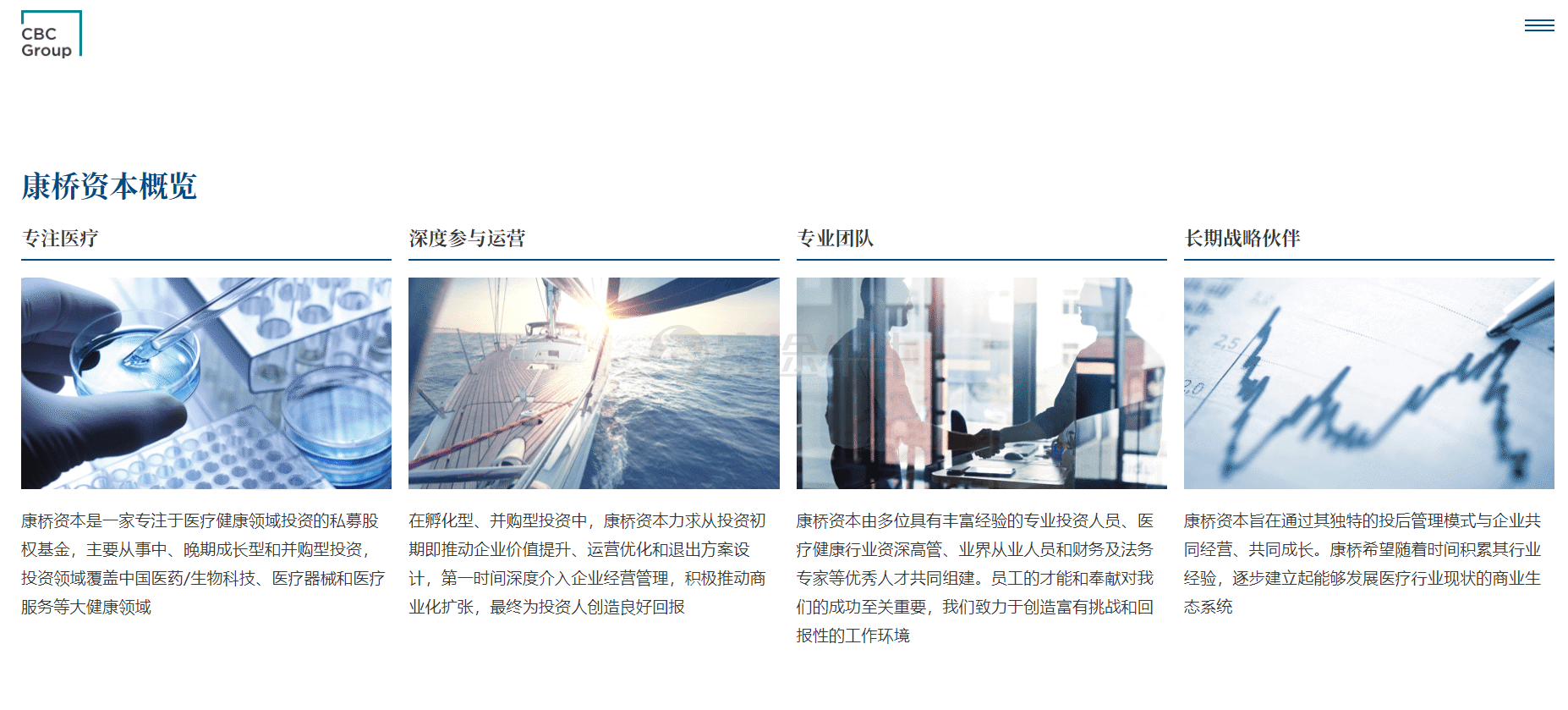 图片来源:康桥资本官网