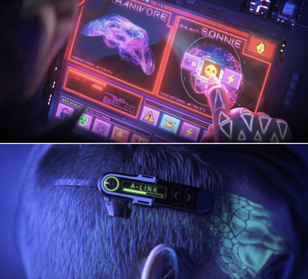 主角通过头戴式设备用意念操控怪兽丨《爱、死亡与机器人》剧照