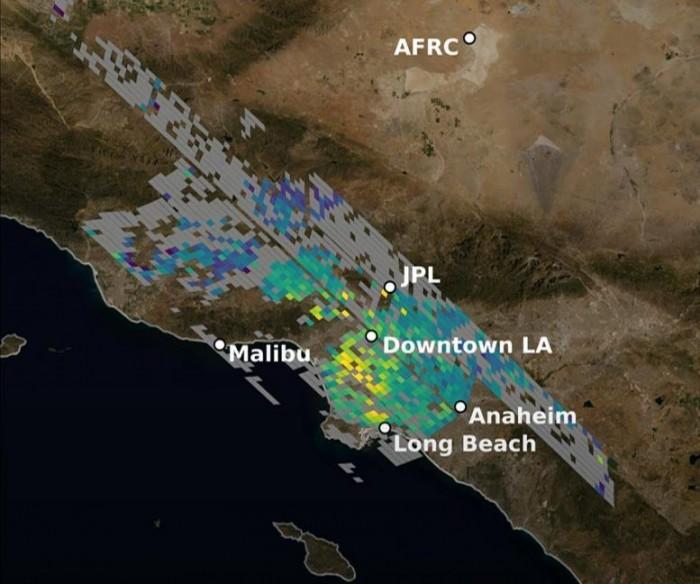 美国宇航局发布最精确的洛杉矶二氧化碳卫星图