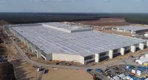 正在建设的特斯拉柏林超级工厂