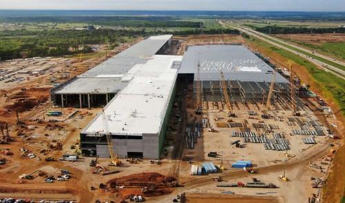 特斯拉正在得克萨斯州建设的超级工厂
