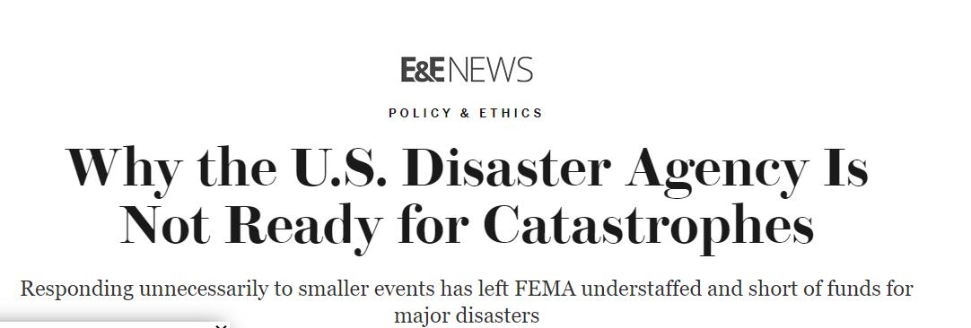 △ 《科学美国人》报告《为什么美国应急管理署没能为灾难做好准备》