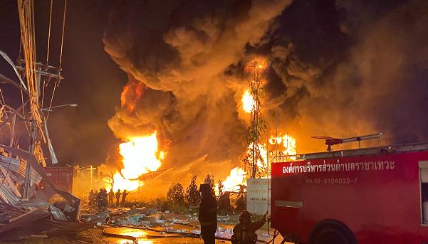 泰国北榄府一化工厂发生爆炸 已致20多人受伤