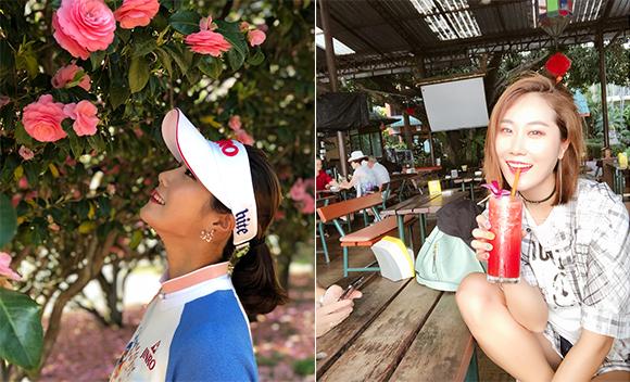 春天的模样!韩国高球美女金荷娜清新靓丽