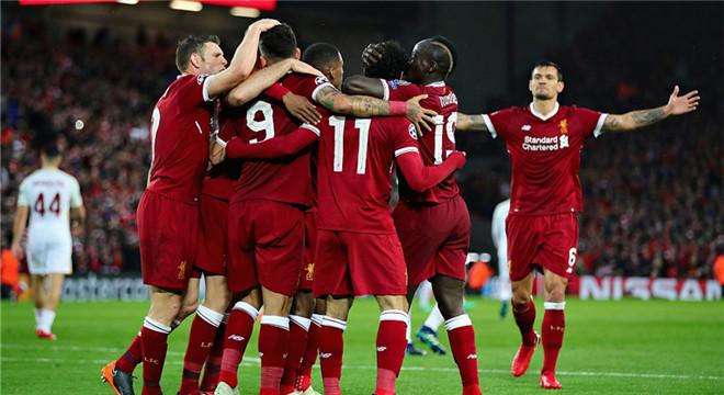 欧冠-萨拉赫2球2助破旧主 利物浦被追2球5-2罗马