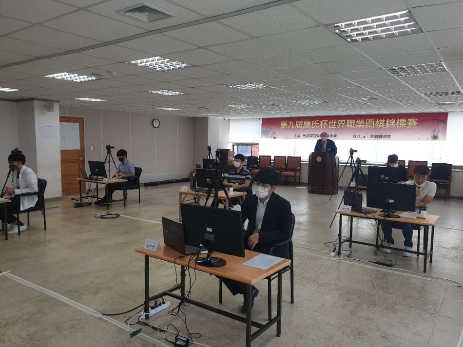 韩国棋手比赛现场