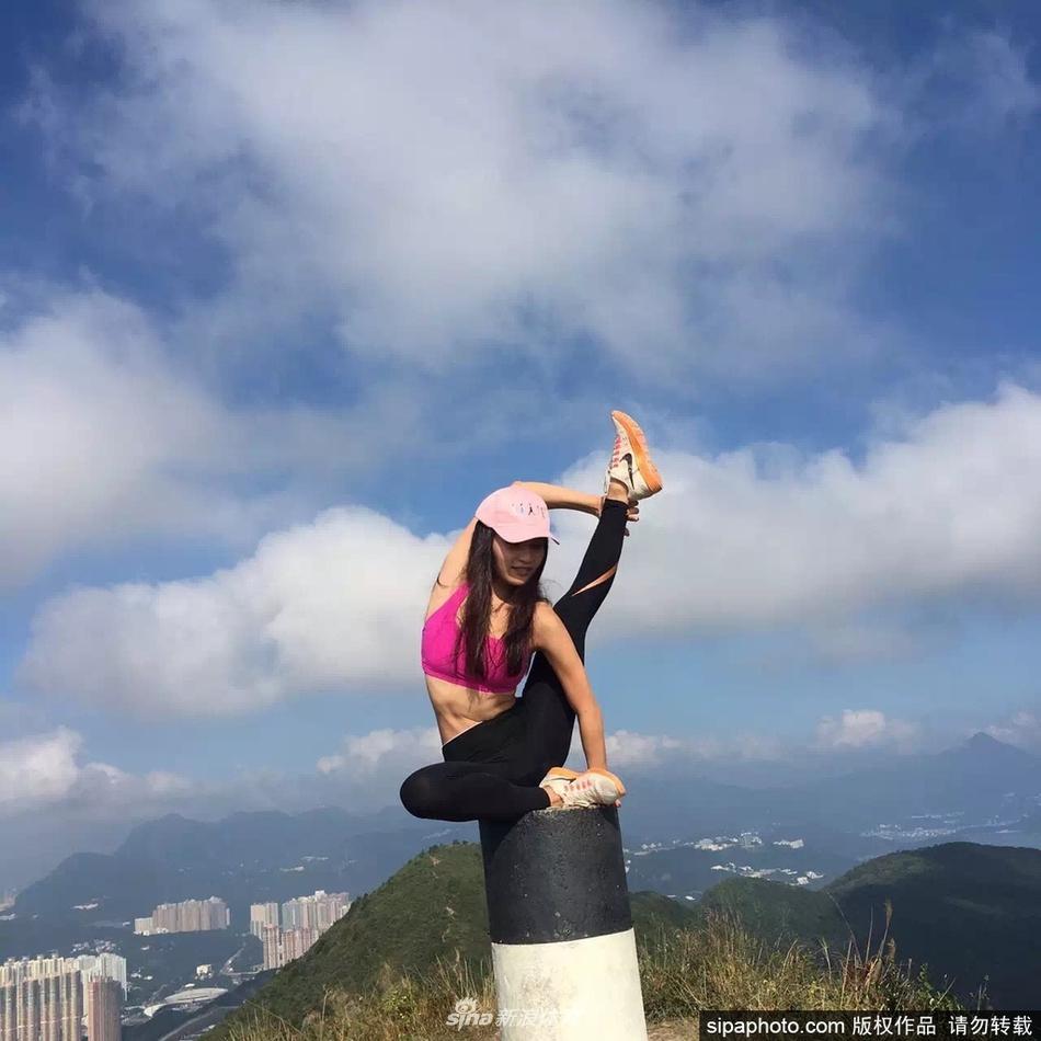 """香港女星林芊妤瑜伽健身私照,一字馬倒立樣樣精通,網友大呼:""""真的很美圖片"""