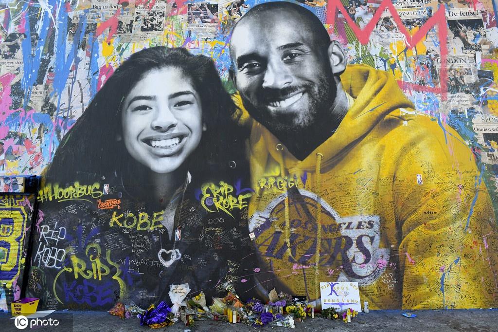 科比去世一周年:洛杉矶街头遍布湖人传奇壁画