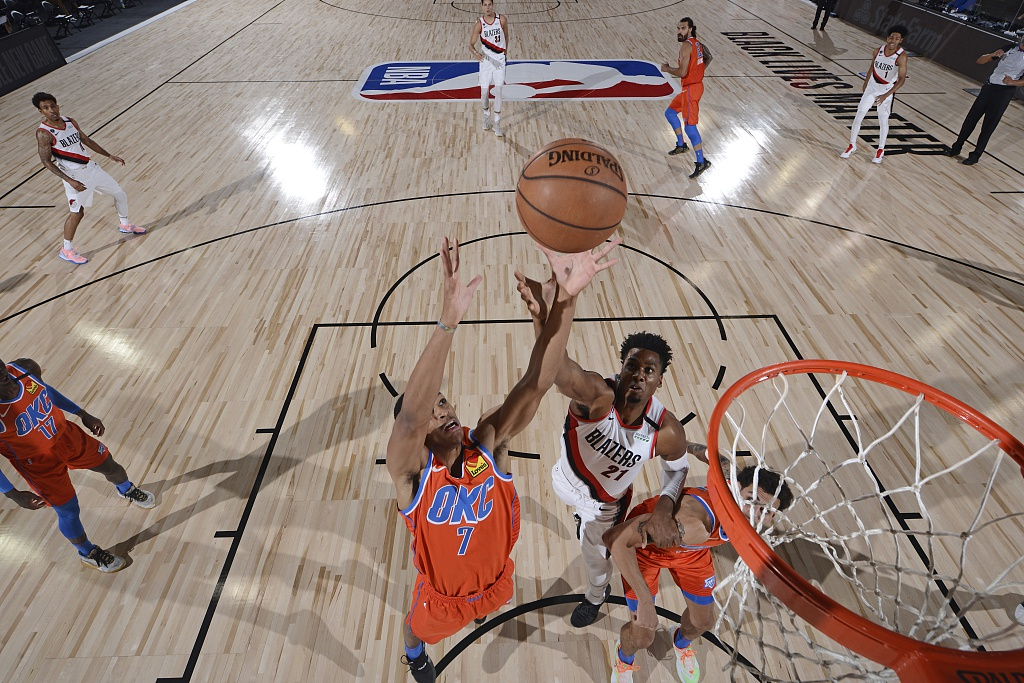 [NBA热身赛]雷霆131-120开拓者