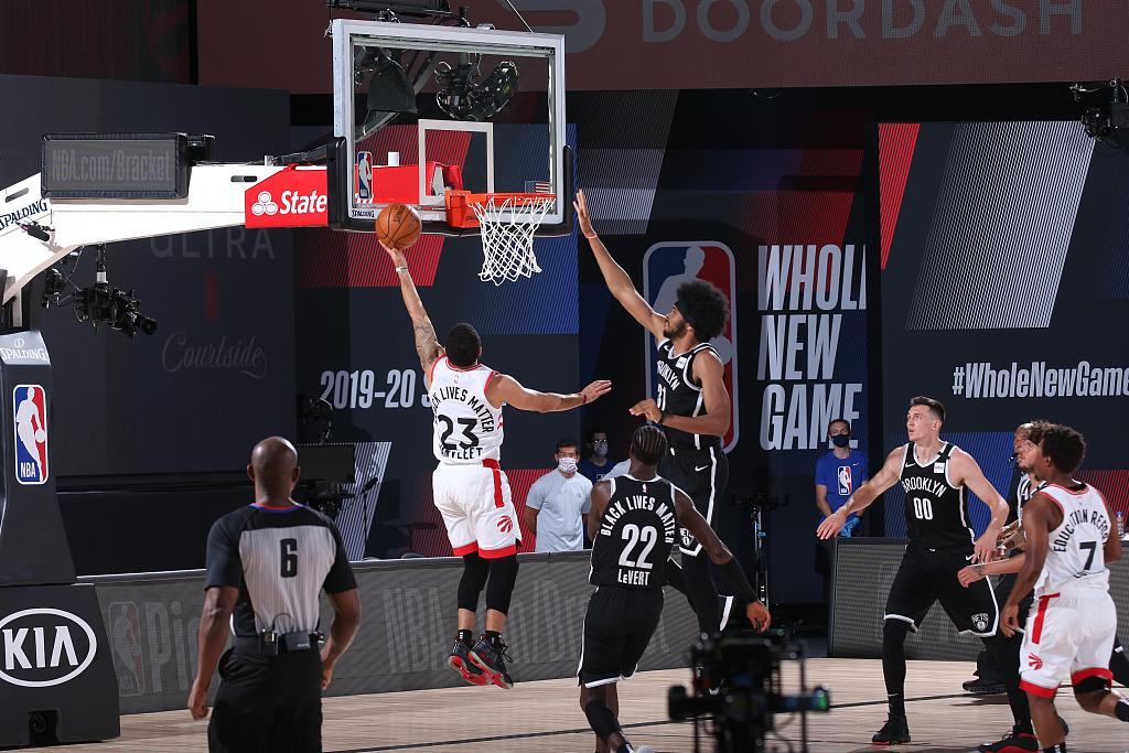 [NBA季后赛]篮网110-134猛龙