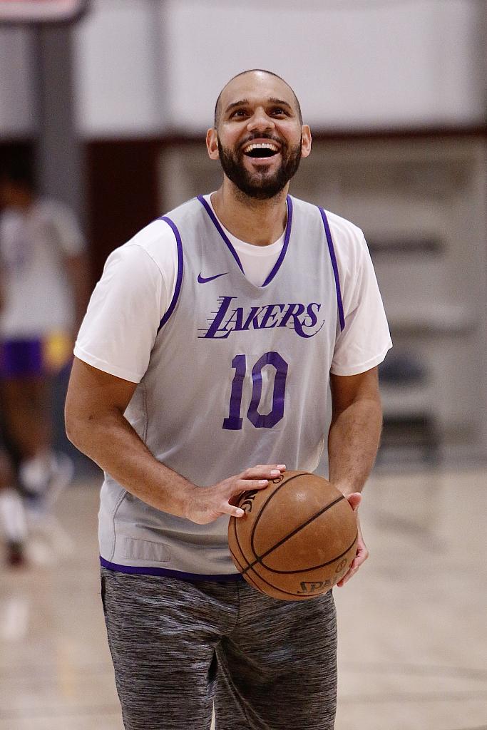 湖人训练备战NBA季后赛