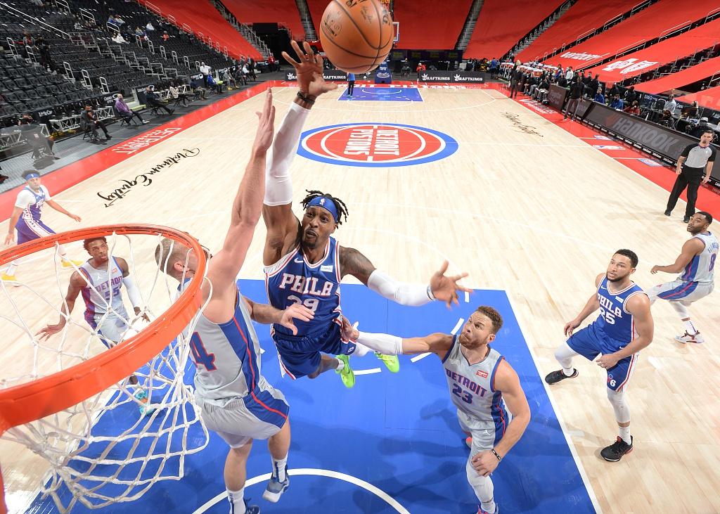 [NBA常规赛]费城76人104-119底特律活塞