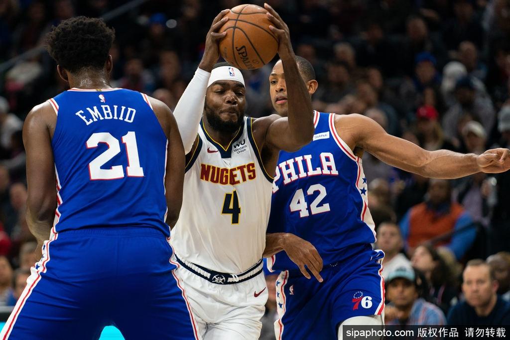 [NBA常规赛]76人97-92掘金