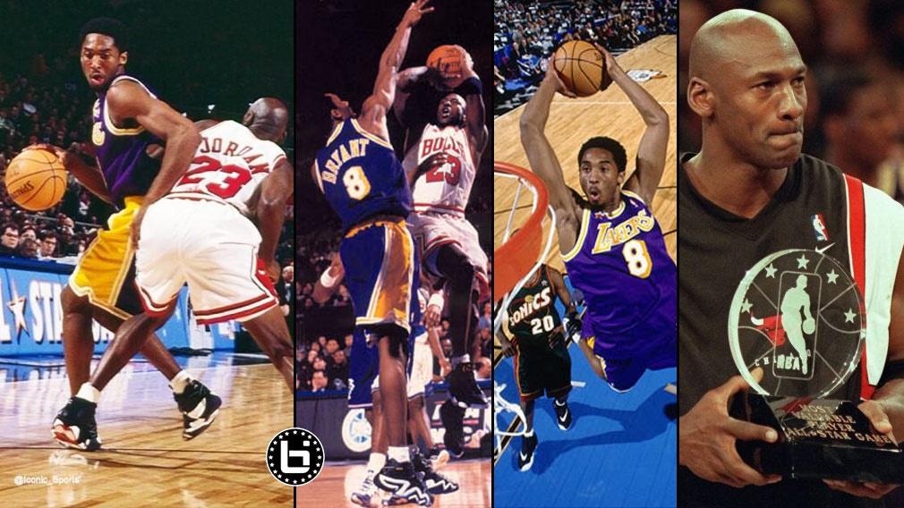 篮球之神太偏心了!1998年全明星 乔丹为科比一对一免费教学
