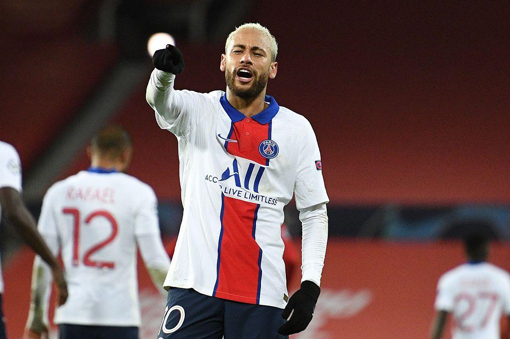 [欧冠]曼联1-3巴黎 内马尔双响