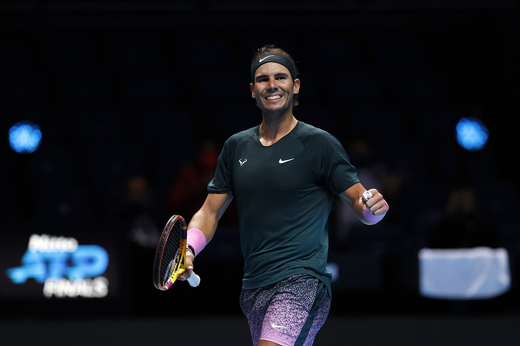 [ATP总决赛]纳达尔击败卫冕冠军晋级半决赛