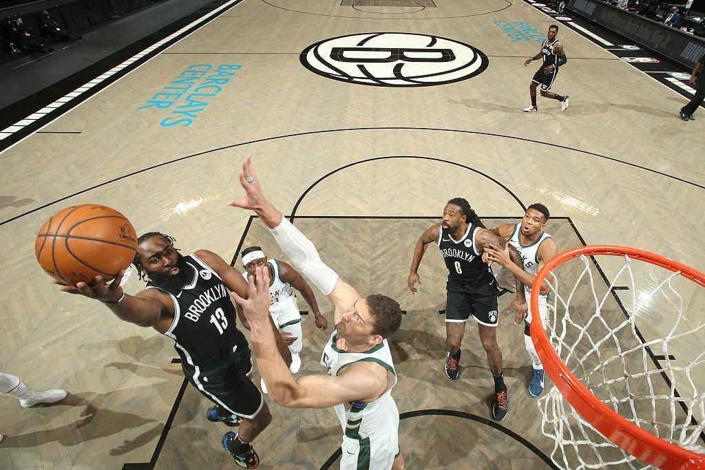 [NBA]雄鹿123-125篮网 KD哈登合砍64分力压字母哥