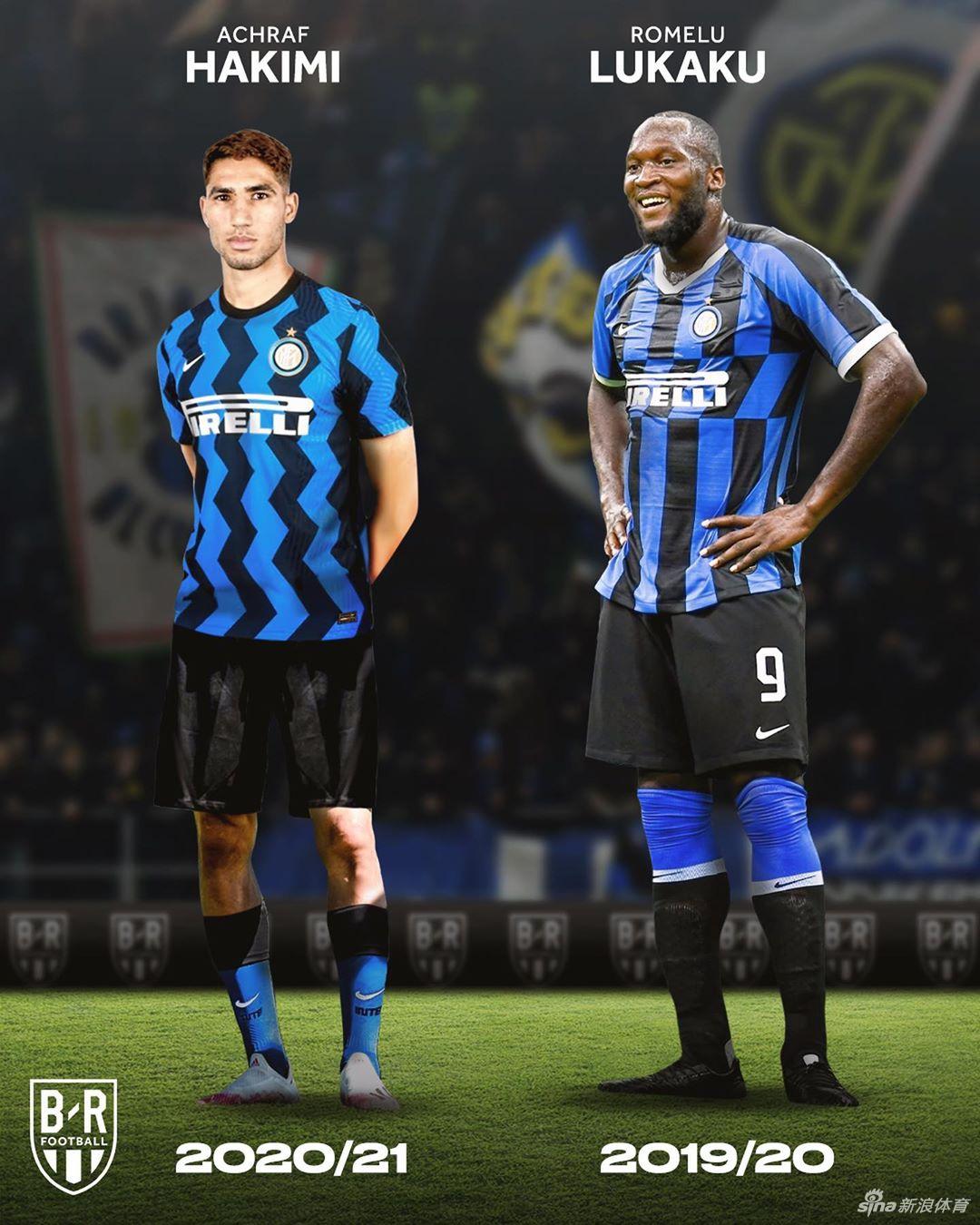 国际米兰近20年球衣变化图谱 从罗纳尔多到卢卡库