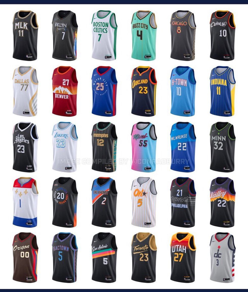 NBA公布新赛季各队城市版新款球衣 哪款最好看