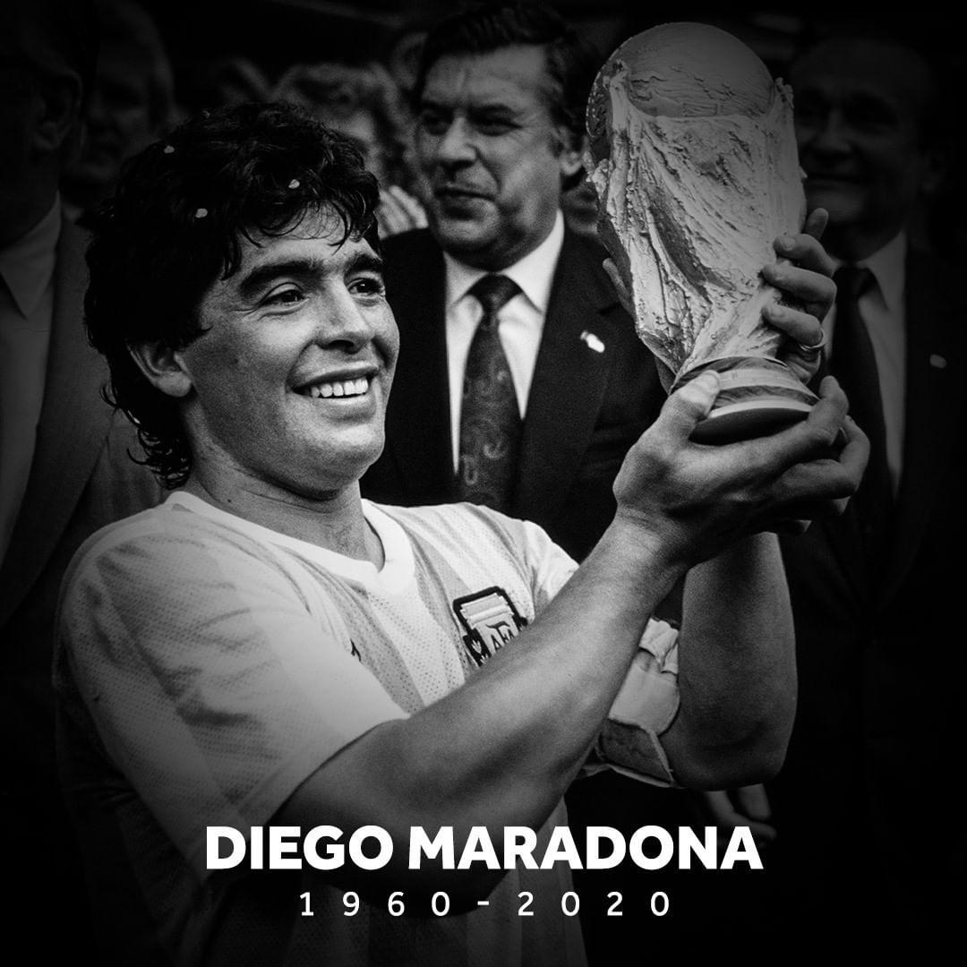 球王陨落!阿根廷传奇马拉多纳去世 享年60岁