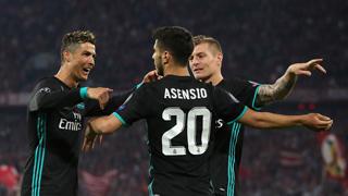 欧冠-阿森西奥替补建功 皇马2-1逆转拜仁