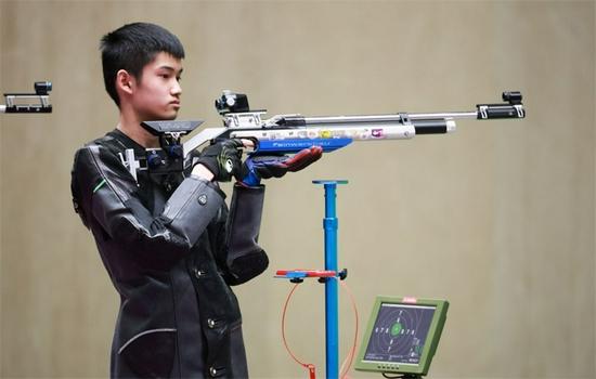 奥运射击史上最年轻奖牌得主 盛李豪:我不是天才