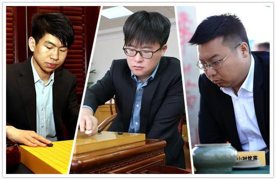 范廷钰、江维杰、周睿羊(从左至右,原料图)。新华社发