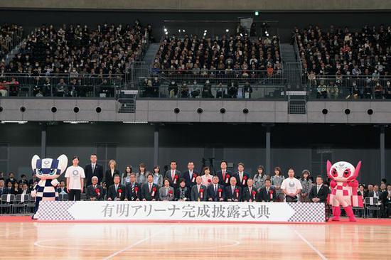 图 日本女排亮相东京奥运排球馆 主帅盼与中国争金