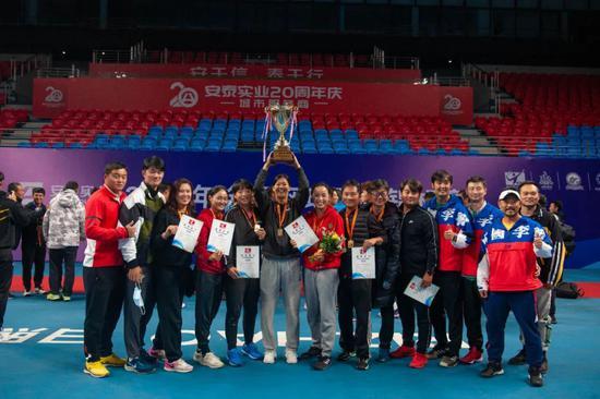 全锦赛:天津网球女团折桂  十九次夺冠傲视群芳