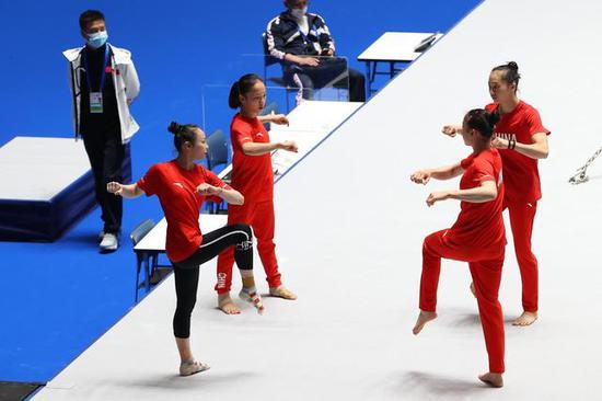 东京四国体操赛防疫措施严格 中国队成员表示了解