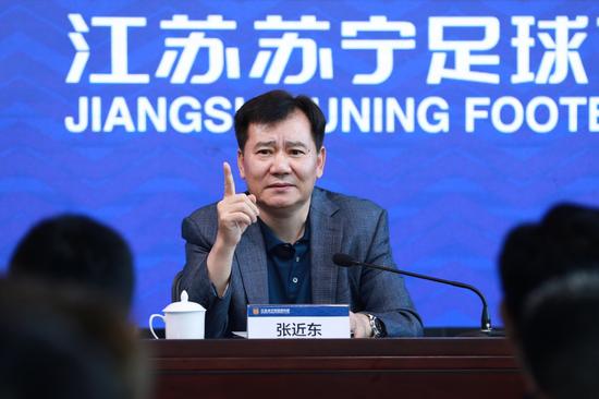 这是苏宁集团刚接手江苏足球时,董事长张近东的慷慨激昂