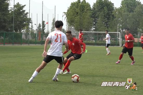 鲁能U19红队热身青岛中创