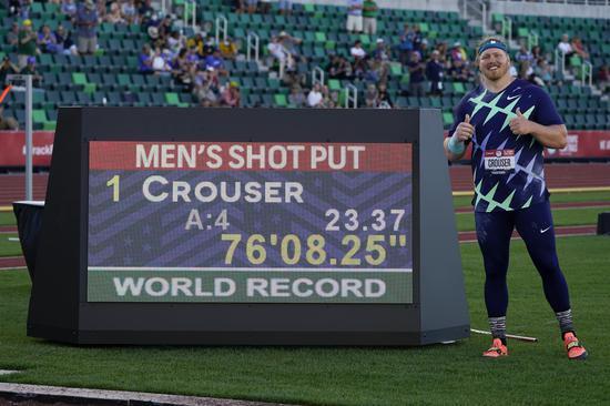 美国选手打破尘封31年的男子铅球世界纪录