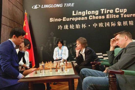 """""""玲珑轮胎杯""""一带一路中欧国际象棋精英赛"""