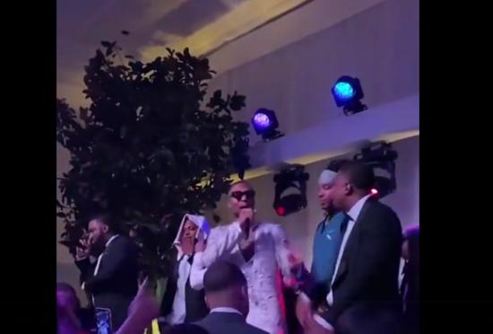 666!利拉德在婚礼上唱rap 这场面震撼