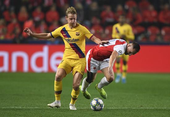 德容收成第5粒西甲进球 超越效力阿贾克斯5年