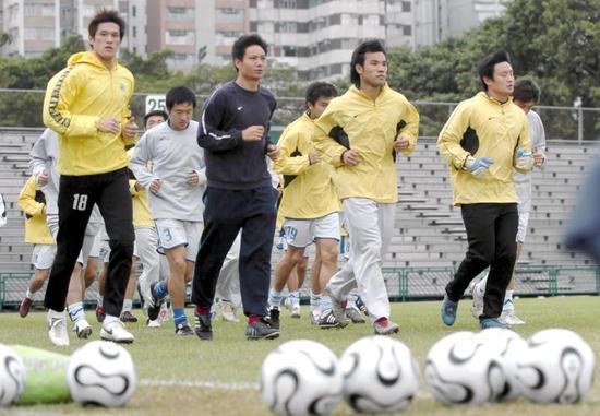 图说:2005年参加省港杯的广东队。