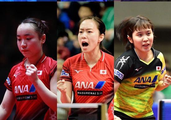日本乒乓球队女队参赛阵容