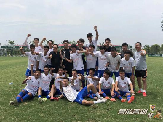 """鲁能U19红队""""中赫国安杯""""邀请赛夺冠"""